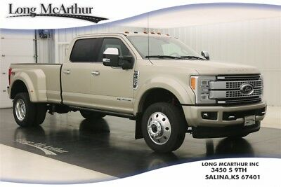 2017 Ford F-450 PLATINUM 4X4 SUPER DUTY CREW CAB 4WD DIESEL DUALLY MSRP $84240 6 SPEED AUTOMATIC POWERSTROKE DUALLY SUPER DUTY 5TH WHEEL AND GOOSENECK PACKAGE