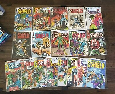 Nick Fury Agent of SHIELD (1968) Lot Complete Series Set #1-18 Steranko Art