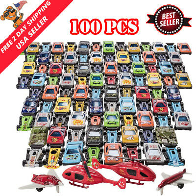 Racing Cars Set Race Car Lot Toy Box for Boys Children Christmas Gift 100 Pcs