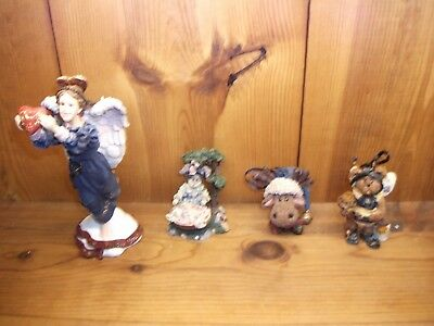 Boyds lot of 4 mooselbeary foley momma buzzby  isabella follow your hearts new
