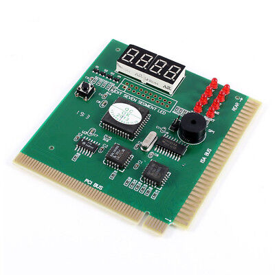 PC Motherboard Diagnostic Card 4-Digit PCI/ISA POST Code Analyzer C8T6