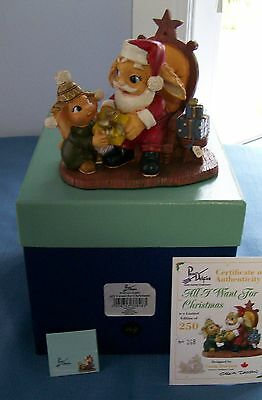 ALL I WANT FOR CHRISTMAS Pendelfin Canadian exclusive Ltd Ed of 250 Santa