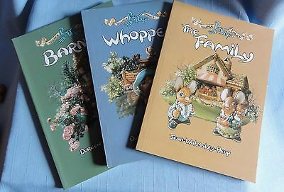 Pendelfin VILLAGE TALES BOOKS Complete set of 3 Whopper, The Family, & Barney
