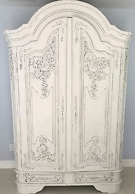 Antique French Carved Shell Armoire