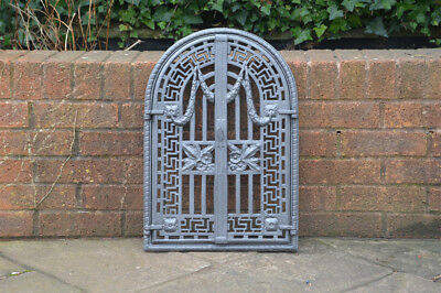 57 x 38.7 cm old cast iron fire / bread oven door/doors /flue/clay/range/pizza