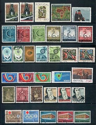 PORTUGAL - Mixed lot of 34 Stamps, Sets or Part Sets, most Good - Fine Used, LH