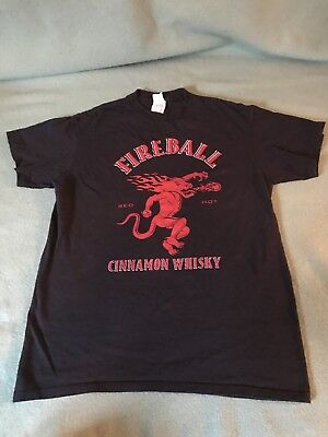 Mens Fireball Cinnamon Whiskey Graphic T Shirt Medium