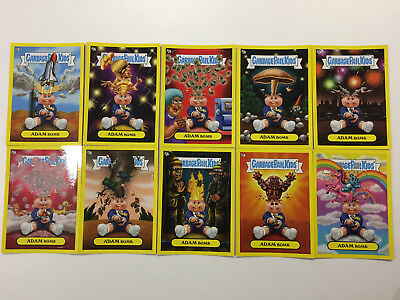 2011 USA Garbage Pail Kids FLASHBACK 3 COMPLETE Adam Mania Set YELLOW Border- FB