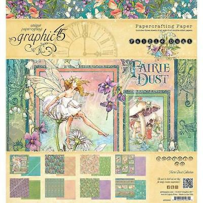 """Graphic 45 Double-Sided Paper Pad 8""""x8"""" 24pcs - Fairie Dust G4501640"""