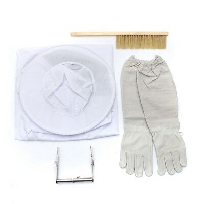 Bee Clothing + Kid gloves + Bee brush + stainless steel nest frame folder B K4W2