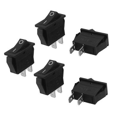 5Pcs SPST On Off Black Snap in Boat Rocker Switch AC250V/15A 125V/20A J3U7