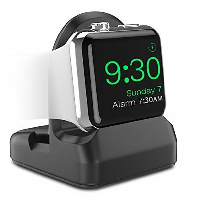 Apple Watch Stand TPU Charging Station Dock Holder Nightstand iWatch 38 42 Black