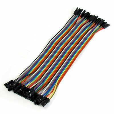 20cm Long F/F Solderless Flexible Breadboard Jumper Cable Wire 40 Pcs X5V4