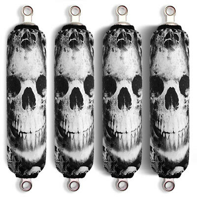 Dark Skull Shock Covers King Quad 300 400 450 500 700 750 (Set of 4) NEW