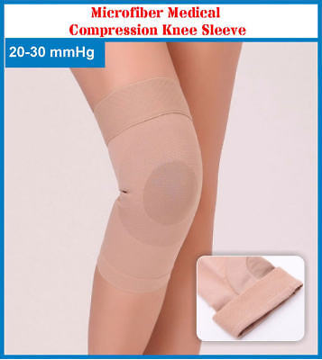 Microfiber 20-30 mmHg Medical Compression Knee Sleeve Arthritis Swelling Varicos