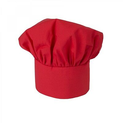 Chef Hat Red Cloth One Size Fit All Velcro Closure Free Shipping Usa Only