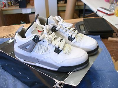 "2011 Nike Air Jordan Retro 4 ""2012 Release"" White/Cement Grey Shoes  Size 7 Y"
