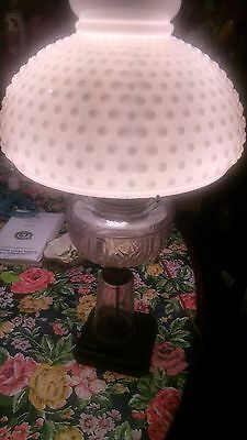ANTIQUE VINTAGE OIL Lamp converted to electric there is is sign eagle