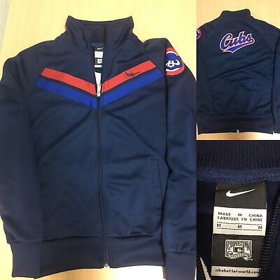 Nike MLB Cooperstown Collection Chicago Cubs baseball zipper jacket