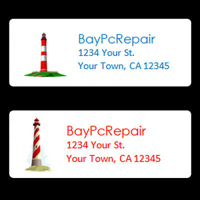30 Lighthouse Address Labels Custom Printing Personalized (Buy 3 get 1 Free)