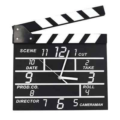 NEW Movie Clock Clap Clapper Clapperboard Board Film Action Scene Slate DryErase