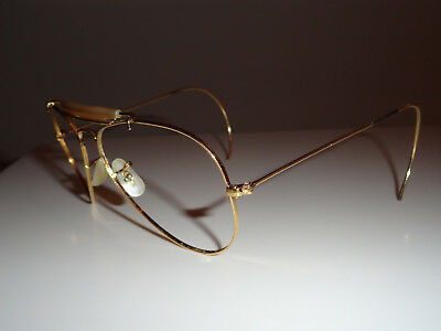 Vintage Ray Ban USA Bausch&Lomb Outdoorsman 5814 Gold (FRAME) AND CASE