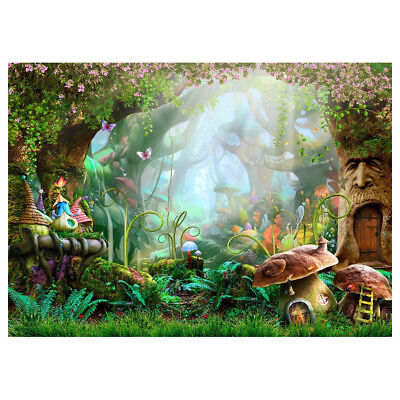 7x5ft Washable Fabric Photography Background Fairytale Dreamlike Nature For Q7O3