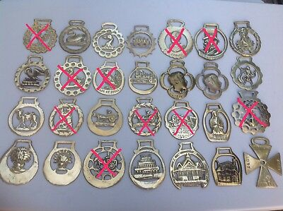Vintage Horse Brass Medallions & Martingales. Price is per brass.