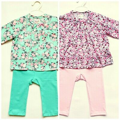 BABY GIRL BOY 0-6 Months WRAPPED BODYSUIT AND/OR TROUSERS SET 100% SOFT COTTON