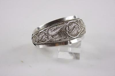 Antique Chinese Sterling Silver Filigree Bangle