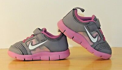Girls Toddler Nike 7C Kid Shoes Sneakers TD Pink Swoosh Tennis Free Runner 3 TDV
