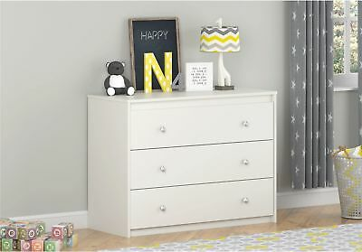 Ameriwood Home Elements White 3-drawer Dresser By Cosco