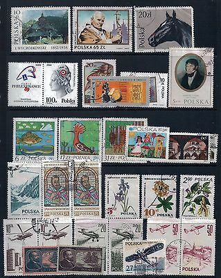 POLAND  -  Mixed Lot of 26 Stamps most Good Used or CTO, LH