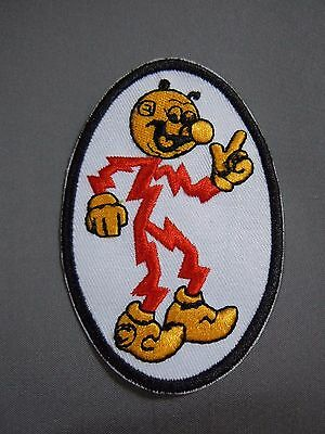 REDDY KILOWATT Embroidered Oval Iron-On Patch - 3.75""