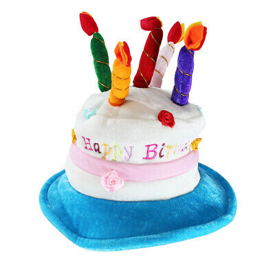 Premium OEM Adult Deluxe Happy Birthday Cake Hat With Candles