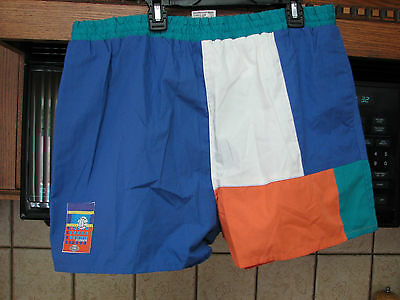 Go Generation one vintage volleyball athletic swim shorts NWT New old stock