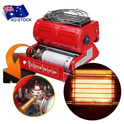 AU STOCK 1PC Portable Butane Gas Heater Outdoor Camping Hiking Warming Heating