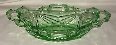 "Indiana PYRAMID/NO. 610 * GREEN *9 1/2"" OVAL PICKLE BOWL*"