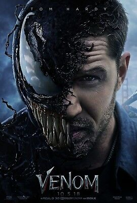 "Venom Tom Hardy Movie Poster 2018 Marvel New HQ Art Print 14×21"" 27×40"" 48×32"""