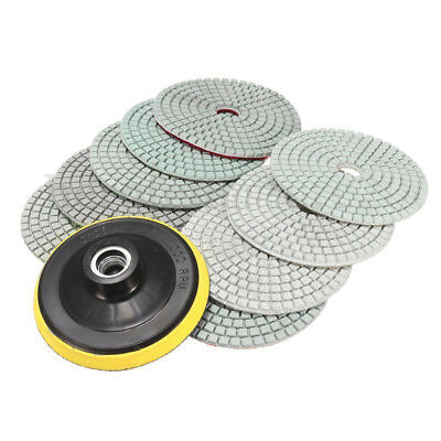 "10pcs 4"" Inch Diamond Polishing pads For Granite Marble Concrete Stone E1H5"