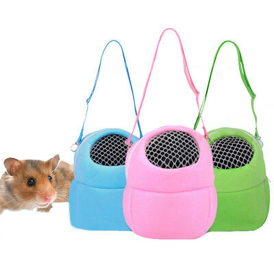 Guinea Pig Hamster Carrier  Mesh Breathable Outdoor Hedgehog Rabbit Carrier Bag