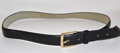 DAIMARU Vintage 90s Black Leather Belt - EUC