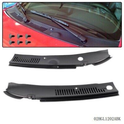 2Pc New Windshield Wiper Cowl Vent Grille Panel Hood For 1999 -2004 Ford Mustang