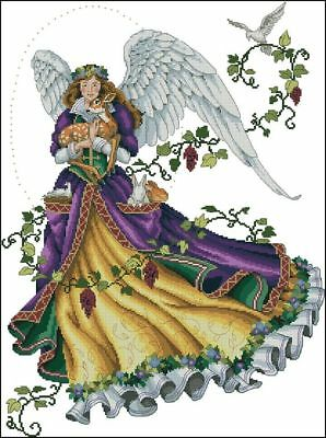 Innocent Guardian - Angel - Cross Stitch Chart - FREE POST