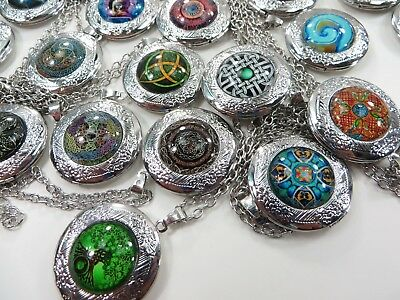 US SELLER, 100 pieces cheap jewelry photo locket pendant necklaces jewelry