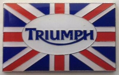 LAPEL PIN BADGE~ Triumph Union Jack logo.  B031102
