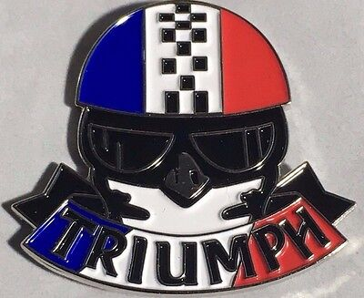Lapel pin badge  ~ Triumph Rider. B041102