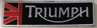 Embroidered  cloth patch ~ Triumph logo Union Jack.    B040904