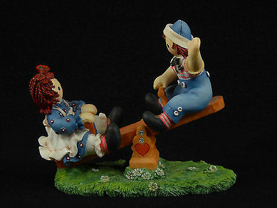 """Raggedy Ann & Andy """"Friendship Is A Contract You Sign With Laughter"""" Figurine"""