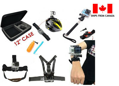Accessory Bundle Kit Combo For GoPro Hero, SJCAM, AceCam and Std Action Cameras